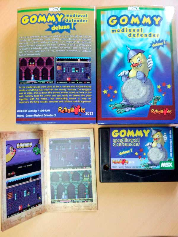 Physical edition Gommy medieval defender deluxe! MSX